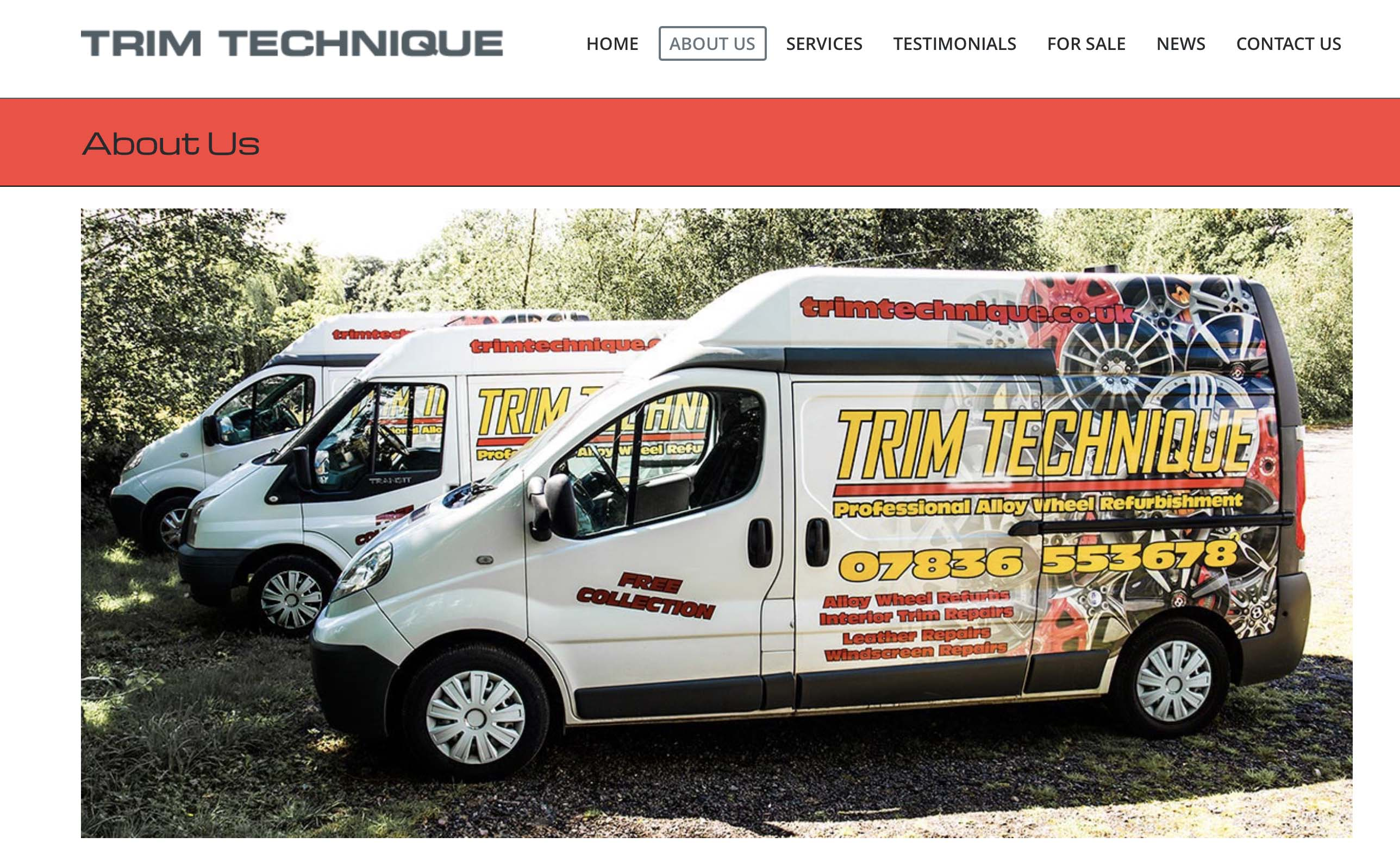 Trim Technique website